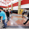 Baxter Springs (Kan.) Middle School students walk through the new school's main cooridor Wednesday afternoon, Jan. 8, 2014, between classes.<br /> Globe | T. Rob Brown