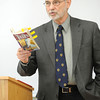 Missouri Southern professor Dale Simpson discusses J.R. Tolkien's philosphy of art during a lecture Tuesday during his ENG 371 class: Tolkien.<br /> Globe   Laurie Sisk