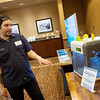 Globe/Roger Nomer<br /> Daniel Hawkins talks about a 3D printer on Tuesday at the Joplin Business Expo at Downstream Casino.