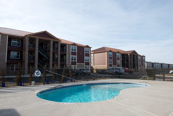 Globe/Roger Nomer<br /> The apartments at Copper Point Landing have recently opened.
