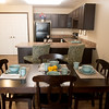 Globe/Roger Nomer<br /> A model apartment shows the layout of a two-bedroom apartment at Copper Point Landing.