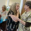 Globe/Roger Nomer<br /> Jane Fillmore, a RMA at the Joplin Community Clinic, wipes away a tear as she talks with Doris Carson on Thursday June 30, 2016, at the clinic.