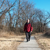 Globe/Roger Nomer<br /> John Motazedi walks along Shoal Creek on Wednesday afternoon.