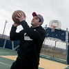 Globe/Roger Nomer<br /> Tanner Neblett shoots hoops on a cloudy Monday at Cunningham Park.