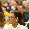 Globe/Roger Nomer<br /> Margaritta Ratliff listens to a guest speaker on Monday during the Martin Luther King Jr. Breakfast at Missouri Southern.
