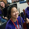 Globe/Roger Nomer<br /> Selina Lee, sophomore, listens to instruction on Thursday during orchestra class at Neosho High School.