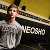 Cayden Auch is a freshman varsity wrestler for Neosho High School.<br /> Globe | Roger Nomer