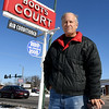 The Route 66 Chamber of Commerce Director and founder, Rod Harsh, stands outside Boots Court in Carthage on Thursday.<br /> Globe | Laurie Sisk