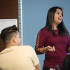 Globe/Roger Nomer<br /> Odilia Woolery leads a class on English at Carthage High School on Tuesday.