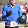 Michael Huffaker nears the finish line for a second place finish in the Joplin Family YMCA's Chilly 5k on Monday morning at the YMCA. <br /> Globe | Laurie Sisk