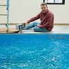 Ron Wallace, Wellness Center Director, demonstrates a therapy pool at the Eastern Shawnee Wellness Center on Tuesday.<br /> Globe | Roger Nomer