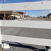 Barriers block traffic near the New to Me Consignment store as road construction continues on Wednesday afternoon near 20th and Main streets.<br /> Globe | Lairie Sisk