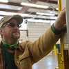 Jon Quick works at the Wyandotte Nation recycling center on Wednesday.<br /> Globe | Roger Nomer