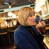 Globe/Roger Nomer<br /> Kerrie Knight, Pittsburg, uses a paper straw on Tuesday at Instant Karma.