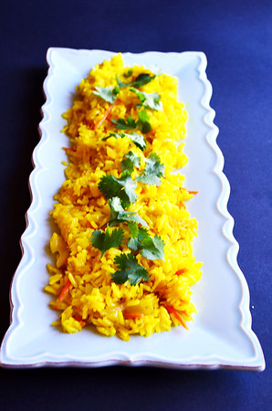 Globe/Juliana Goodwin<br /> This lovely turmeric rice pilaf is fluffy, savory and flavorful.