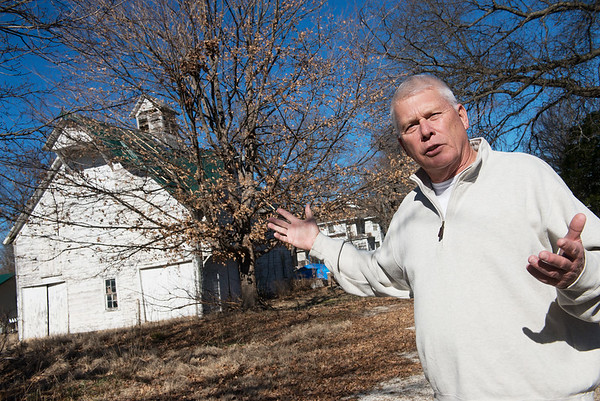 Paul Callicoat talks about converting the former Sarcoxie Nursery into a medical marijuana cultivation facility during an interview on Tuesday at the site.<br /> Globe | Roger Nomer