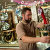 Globe/Roger Nomer<br /> Jesse DeLeon, lead brewer, pours a beer sample on Thursday at Downstream Casino.