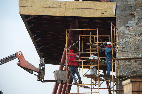 Globe/Roger Nomer<br /> Construction continues on the new Joplin Senior Center on Monday.