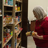 Joplin City Council member Diane Reid Adams volunteers at the Lion Co-op during Monday's Martin Luther King Jr. Day of Service at Missouri Southern.<br /> Globe | Roger Nomer
