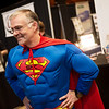 John Motazedi, CEO of SNC Squared, dresses as Superman on Tuesday for the Joplin Business Expo at Downstream Casino.<br /> Globe | Roger Nomer