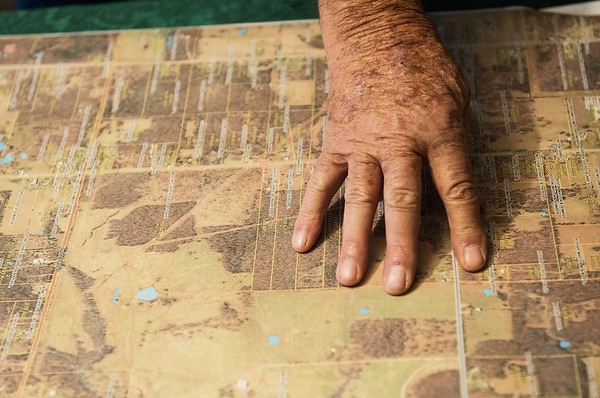 """This will all be underwater,"" said Clarence Martin as he points to a map of Newton County.<br /> Globe 