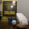 Informational leaflets sit on a desk at Safehouse Crisis Center on Wednesday in Pittsburg. January is Human Trafficking and Stalking Awareness Month.<br /> Globe | Laurie Sisk