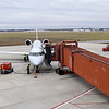 Grounds crews at the Joplin Regional Airport refuel an American Eagle flight for departure to Dallas on Thursday. The airport will also soon be offering service to Chicago.<br /> Globe   Laurie Sisk
