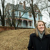 Abi Almandinger, executive director of Vision Carthage, talks about historical homes along Central in Carthage on Wednesday.<br /> Globe | Roger Nomer
