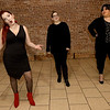 "From the left: Stephanie Allin-Jackson, Kaitlin Morrill and Alise Richins rehearse their roles for the 124 Studios production of ""The Vagina Monolgues.""<br /> Globe 