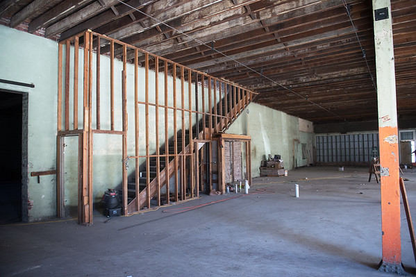 New lofts and retail space are being planned for the former Lewis Motor Company building along Joplin Street.<br /> Globe | Roger Nomer
