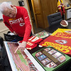 Chiefs fan Bart Mayer talks about his seats at Arrowhead Stadium during an interview on Wednesday in Neosho.<br /> Globe | Roger Nomer