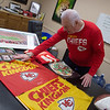 Bart Mayer talks about Chiefs flags he got while attending thier game in London in 2015.<br /> Globe | Roger Nomer