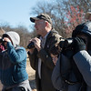 Bird watchers look for sightings during Saturday's Kids Christmas Bird Count at the Shoal Creek Conservation Education Center.<br /> Globe | Roger Nomer