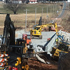 Construction continues on the Highway D bridge near Oronogo on Tuesday morning.<br /> Globe | Roger Nomer