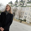 Abi Almandinger, executive director of Vision Carthage, talks about downtown attractions in Carthage on Wednesday.<br /> Globe | Roger Nomer