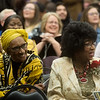 "Patsy Robinson (left) and Irene Carr sing along with ""When the Saints Go Marching In"" during Monday's Dr. Martin Luther King Jr. Day Celebration at Missouri Southern.<br /> Globe 