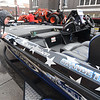 Twelve-year-old Llian Cunningham, of Chanute, checks out one of the boats on display at the Albers Marine 14th Annual Fishing and Hunting Show  on Saturday at Pittsburg's Memorial Auditorium. The event included boats, fishing and archery equipment and a kids casting contest.<br /> Globe | Laurie Sisk