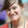 Globe/T. Rob Brown<br /> Sarah Lane, 16, volunteer from Holy Family Nazareth in Irving, Texas.