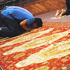 Globe/Roger Nomer<br /> Alvian Salim says a prayer during a service on Thursday at the Islamic Society of Joplin's mosque.