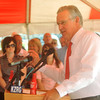 Gov. Jay Nixon addresses the crowd at the groundbreaking of Joplin's Coca-Cola bottling plant on Monday.