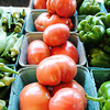 Globe/T. Rob Brown Heirloom tomatoes at the Fredrickson Farms, of Carl Junction, booth Friday morning, June 29, 2012, at the Webb City Farmers' Market.