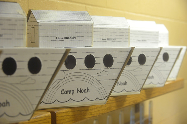 Globe/Roger Nomer<br /> Art supply boxes for campers shaped like arks await decoration at Camp Noah at Immanuel Lutheran Church.