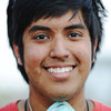 Globe/T. Rob Brown<br /> Nick Mendoza, 18, volunteer from St. Pius X of Dallas, Texas.