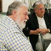Globe/Roger Nomer<br /> Former mayors Gary Shaw, left, and Ron Richard talk during a reunion Friday at Central Christian Church.