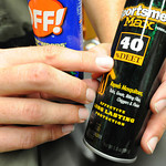 Globe/T. Rob Brown Kevin Badgley, community outreach specialist with the Missouri Department of Conservation, said Deet is the important active ingredient in insect repellent for repelling t ...