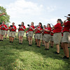 Globe/Roger Nomer<br /> Members of the Missouri Lions Club All-State Band perform a patriotic song during a concert at Landreth Park on Thursday evening.