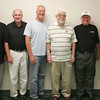 Globe/Roger Nomer<br /> Former mayors Ron Richard, Phil Stinnett, Darius Adams, Larry Hickey, Richard Russell and Gary Shaw pose for photo during a reunion Friday at Central Christian Church.