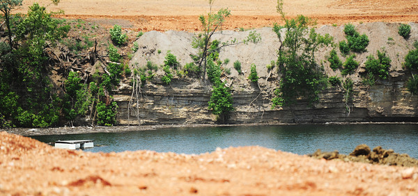 Globe/T. Rob Brown<br /> The Oronogo Circle mine pit Thursday afternoon, July 11, 2013.