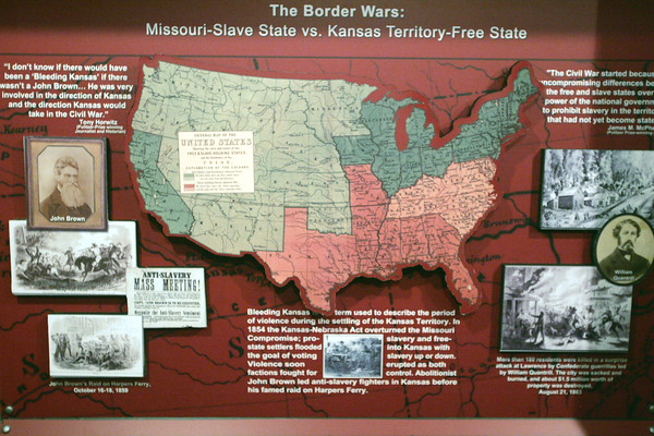 Globe/Roger Nomer<br /> Baxter Springs native Brian Rardin designed this exhibit on the Border Wars, one of several presentations he installed at the Baxter Springs History Museum.