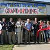 Globe/Roger Nomer<br /> The ribbon is cut on the new Jake's Fireworks facility in Pittsburg on Monday morning.